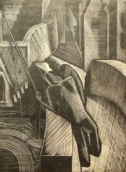 Margaret Bryan 1930's limited edition; 'The Fisherman'